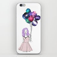 Space balloons iPhone & iPod Skin