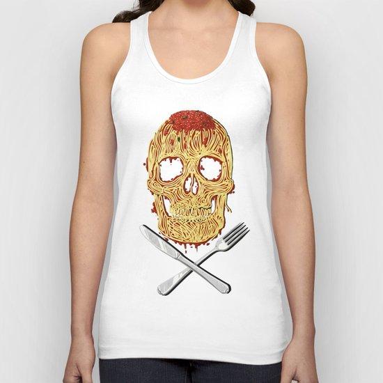 Spaghetti Skull Unisex Tank Top