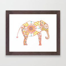 Orange Dreamsicle Elephant Framed Art Print