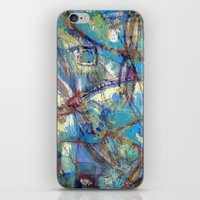 Dragonflies in blue iPhone & iPod Skin