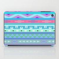 Calm Colored Tribal Print iPad Case