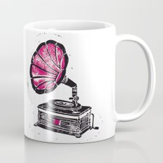 Linocut Gramophone Mug