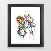 Two Lips Framed Art Print
