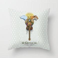 WE GOVERN WE // lionsandtigersandbears Throw Pillow