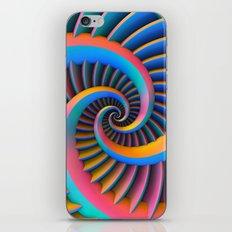 Opposing Spirals iPhone & iPod Skin