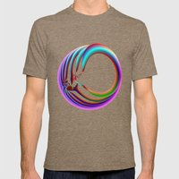 Framed in Circles Mens Fitted Tee Tri-Coffee SMALL