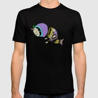 Monsta Fish Mens Fitted Tee Black SMALL