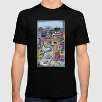 Tiny Town Mens Fitted Tee Black SMALL