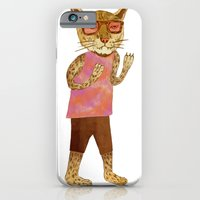 iPhone & iPod Case featuring Cougar by Santiago Uceda