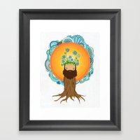 Tree Creature.  Framed Art Print