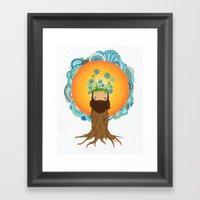 Tree Creature.  Framed Art Print