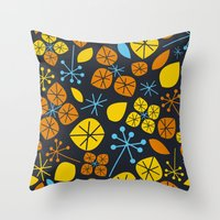 Leaf Scatters Throw Pillow