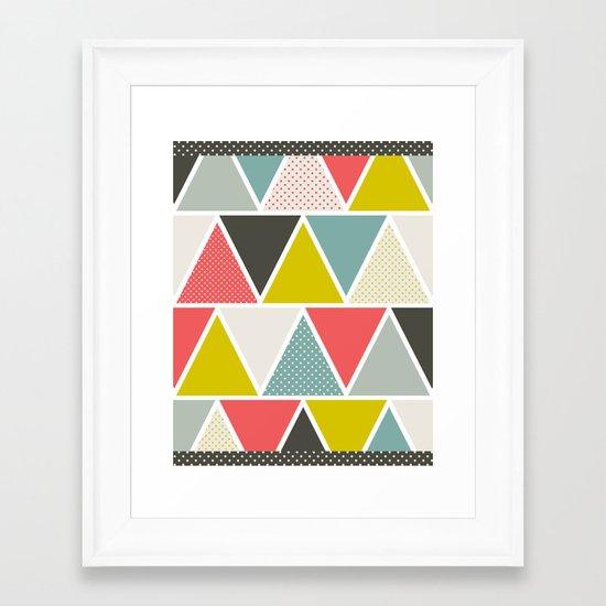 Triangulum Framed Art Print