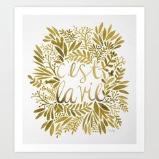 That's Life – Gold on Gold Art Print