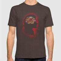Sam's Phrenology Mens Fitted Tee Brown SMALL