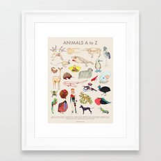 Bizarro Animals - A to Z Framed Art Print