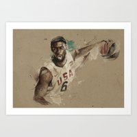 [Lebron James] Art Print