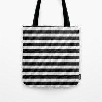 Sleepy Black and White Stripes Tote Bag