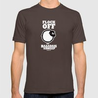 Baaadass the Sheep: Flock Off Mens Fitted Tee Brown SMALL