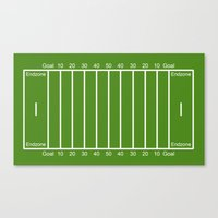 Football Field design Canvas Print