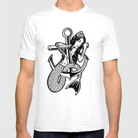Mermaid Love Mens Fitted Tee White SMALL