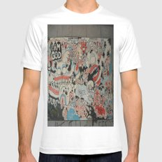 Urban art Mens Fitted Tee SMALL White