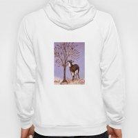 Deer by the tree Hoody