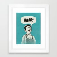 AAAA! (Blue) Framed Art Print