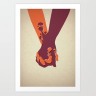 Art Print featuring When Two Become One - Ha… by Mr. Peruca
