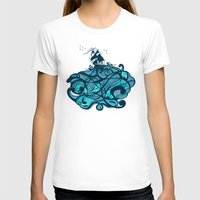 Upon The Sea Womens Fitted Tee White SMALL