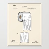 Toilet Paper Roll Patent… Canvas Print