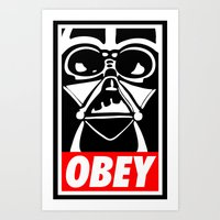 Obey Darth Vader - Star … Art Print