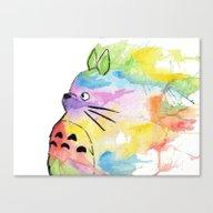 My Rainbow Totoro Canvas Print