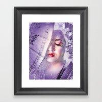 The Geisha With White Ha… Framed Art Print