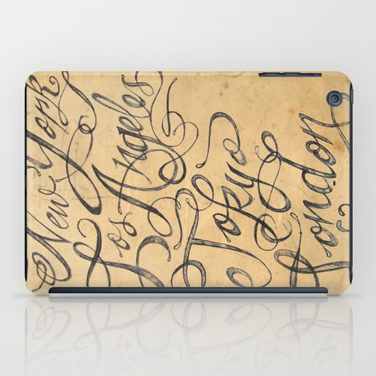 freehand cities iPad Case