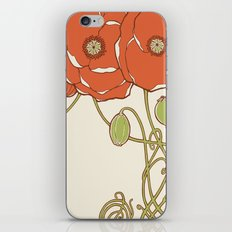 Graphic Poppies iPhone & iPod Skin