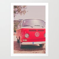 Red Ride Art Print