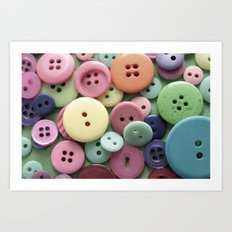Buttons, Buttons, Galore Art Print