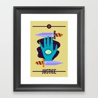 Framed Art Print featuring JUSTICE by BadOdds