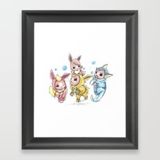 Bursting Bubbles Framed Art Print