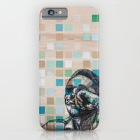 iPhone & iPod Case featuring Checker Face by Zach Hoskin