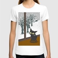 snow T-shirts featuring Snow by BATKEI