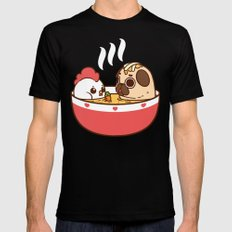 Chicken Noodle Puglie Soup Mens Fitted Tee Black SMALL