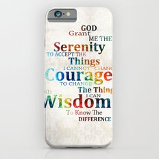 Colorful Serenity Prayer by Sharon Cummings iPhone 6 Slim Case