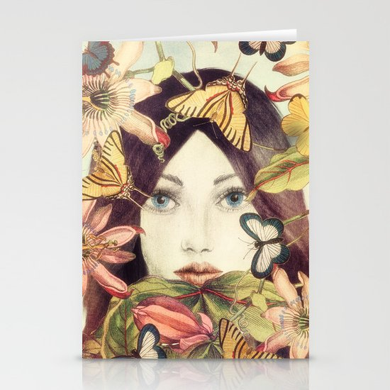 Whispers From A Secret Garden Stationery Card