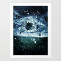 And the storm broke Art Print
