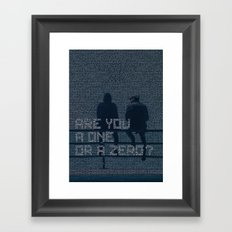 mr.robot_eps1.1_ones-and-zer0es.mpeg Framed Art Print