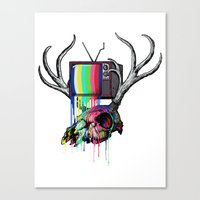 COLORS TV Canvas Print
