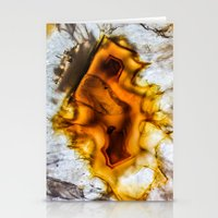 Honey Amber Agate frozen in time  Stationery Cards