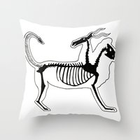 Chimera Skeleton Throw Pillow